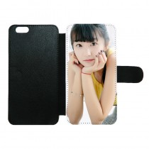 For iphone 6 plus 6S plus PU leather case with Card slot  strong protection horizontal open business case with your photo or design