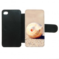 For iphone 4 4S PU leather case with Card slot strong protection horizontal open business case with your photo or design