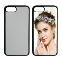 For iphone 7 plus 8 plus 2in1 TPU+PC very strong protection case with your photo or design