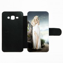 For Samsung Galaxy J5 PU leather case with Card slot strong protection horizontal open business case with your photo or design