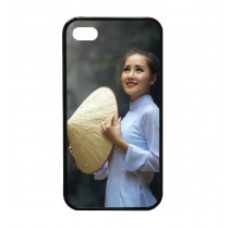 For iphone 4 4S TPU+PC rubber soft case with your photo or design