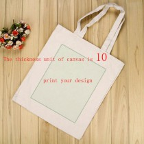 fashion canvas tote bags for women female with your custom photo or design or logo thickness is 10