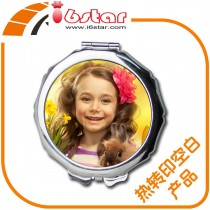 makeup mirrors with customized photo or design or print picture by hermal transfer printing cosmetic mirror