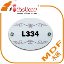 MDF Doorplate door with customized photo or design or print picture by hermal transfer printing