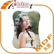 MDF Desk clock Wall clock with customized photo or design or print head portrait by hermal transfer printing