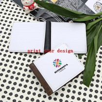 wallet purse with your custom personalized photo or design or logo  men moneybag  can print two surfaces