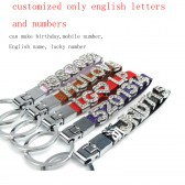 car key chains ring with custom personalized birthday,mobile numb