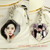 fashion crystal key chains ring with your custom personalized pho