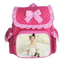 schoolbag for girls boys kids  with your kids custom photo or design or text name