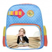 schoolbag for girls boys kids  with your kids custom photo or design or text name  Suitable for 3-6 years
