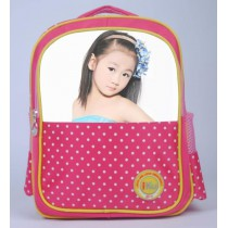schoolbag for girls boys kids  with your kids custom photo or design or text name  Suitable for 5-8 years