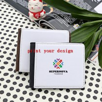 wallet purse moneybag with your custom personalized photo or design or logo only print one surface