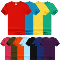 T-Shirts with custom photo or design or logo round collar Short sleeve T-Shirt for women men