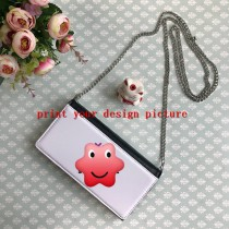 women Handbags with your custom personalized photo or design or logo Shoulder bags with chain