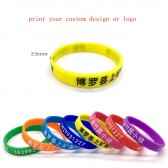 silicagel wristbands bracelets with your custom personalized phot