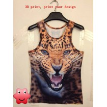 3D effect Tank Tops  with custom photo or design or logo round collar 3D print Tank Top for men