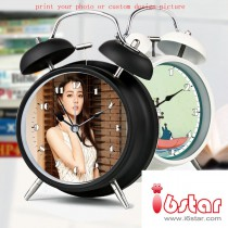 Toy Kids Alarm Clock with customized design picture or photo  Children Gift print your child photo