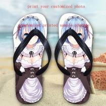 women slippers with your custom photo or design or logo slipper