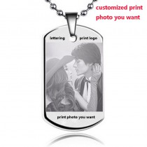 customized print photo you want text diy pendant high quality stainless steel men necklaces pendants dog Tag custom lettering