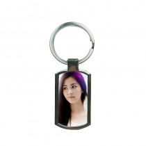 customized Metal key chains with your photo or design heat transfer printing fashion jewelry can retail