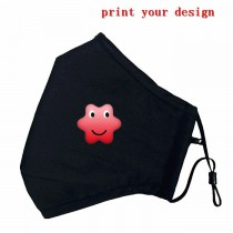 Cotton PM2.5 Black mouth Mask Mouth-muffle with your custom photo or design or logo for Four seasons