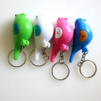 whistle key finder birds key chain  led light flashlight for kids gift customized  your company logo design