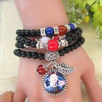 multilayer crystal bracelets can put your custom photo fashion bracelet for girls lover's women birthday gift