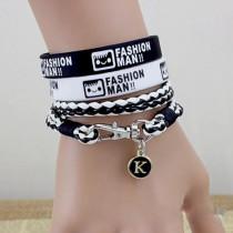 fashion multilayer bracelet for girl and boy lover's gift silicone bracelets for student three bracelet sets