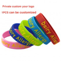 silicagel wristbands bracelets engrave Dad and mom's phone number Prevention of child loss