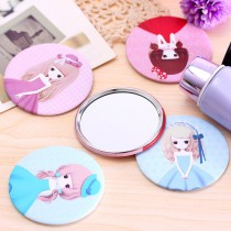 customize tinplate makeup mirror with cutom private design picture or company logo tinplate for advertising promotion gifts
