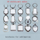 metal key ring for sublimation blank keychain for heat transfer b