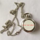 sublimation watch  locket necklaces pendants blank fashion retro