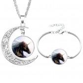 moon necklace pendant for sublimation fashion necklaces pendants